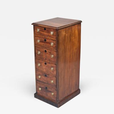 Georgian Mahogany Six Drawer Chest