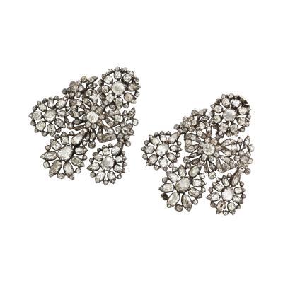 Georgian Portuguese Diamond Girandole Earrings