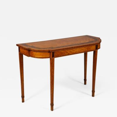 Georgian Satinwood Console Table