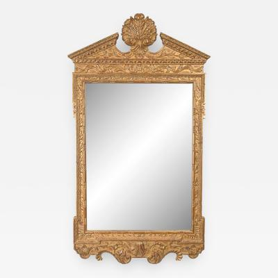 Georgian Style Hand Carved and Gilt Mirror Late 20th Century