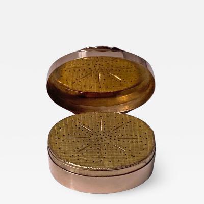 Georgian gold vinaigrette circa 1800