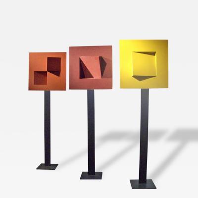 Gerald DiGiusto Gerald DiGiusto Meta Square Totem Tryptic 1970