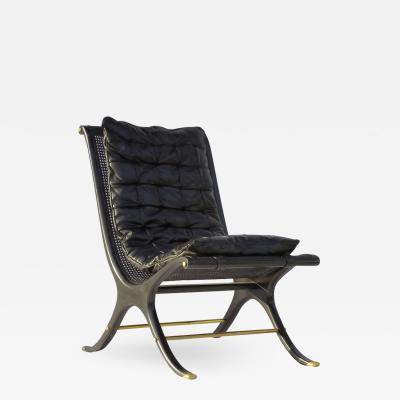 Gerald Jerome 1968 Ebony Caned Lounge Chair Gerald Jerome CA Design 10