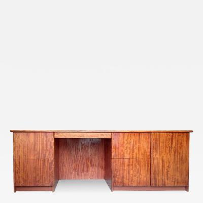 Gerald McCabe Gerald McCabe Large and Narrow Console Desk in Gorgeous Bubinga Wood