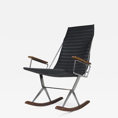 Gerald McCabe Gerald McCabe for Brown Saltman Steel and Walnut Rocking Chair