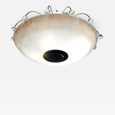 Gerald Thurston Gerald Thurston Chic Ceiling Fixture with Crystal Orbs 1960s