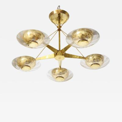 Gerald Thurston Gerald Thurston For Lightolier Mid Century Modern Brass Chandelier