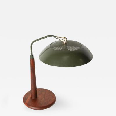 Gerald Thurston Gerald Thurston Green Desk Table Lamp for Lightolier