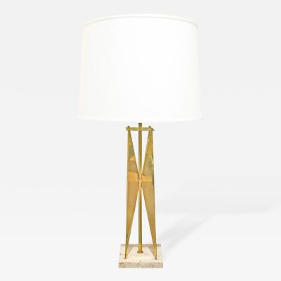 Gerald Thurston Gerald Thurston Sculptural Brass Table Lamp 1950s