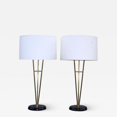 Gerald Thurston Gerald Thurston Style Brass Tall Table Lamps
