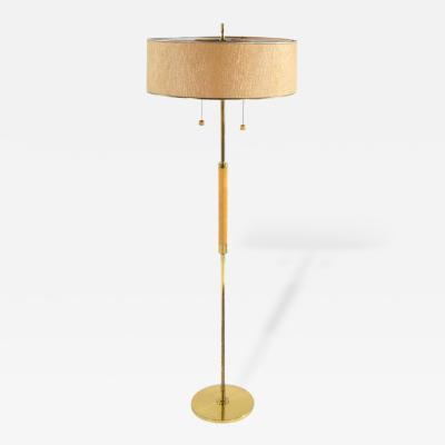Gerald Thurston Gerald Thurston for Lightolier Brass Floor Lamp