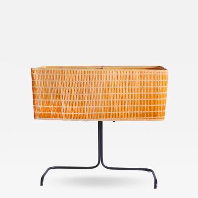 Gerald Thurston Rare Gerald Thurston Table Lamp with Original Woven Bamboo Shade