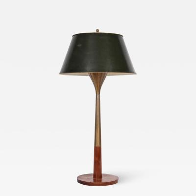 Gerald Thurston Tall Gerald Thurston for Lightolier Radiating Brass Walnut Table Lamp