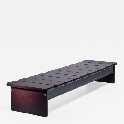 Geraldo de Barros Geraldo de Barros wooden bench from Brazil 1960s