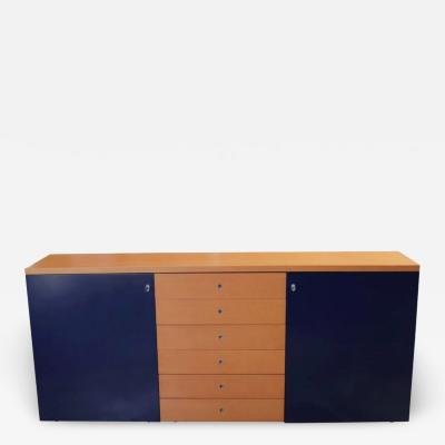 Gerard Castelijn Modern Orange and Blue Buffet by Castelijn