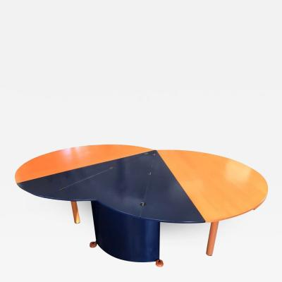 Gerard Castelijn Modern Orange and Blue Dining Table by Castelijn
