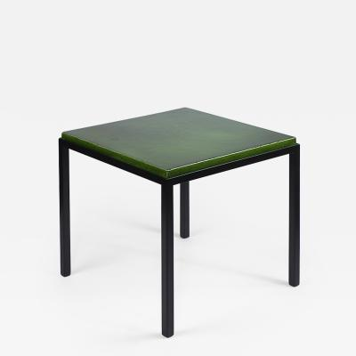 Gerard Simo n GREEN GLAZED CERAMIC SIDE TABLE 41