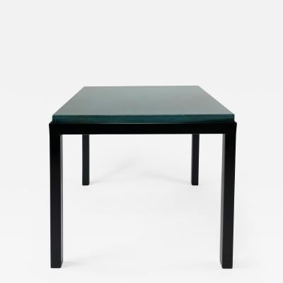 Gerard Simo n TURQUOISE GLAZED LAVA STONE SIDE TABLE