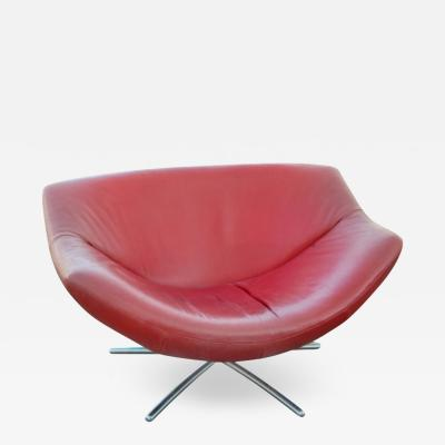 Gerard van den Berg Red Leather Chair