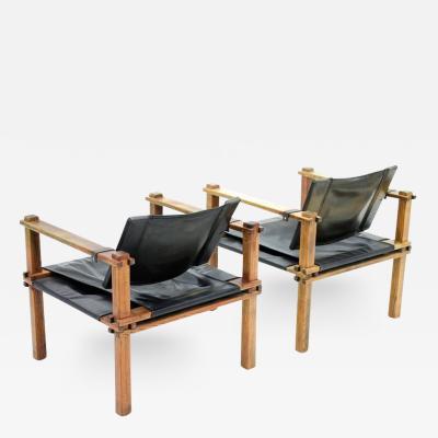 Gerd Lange Pair of Safari Lounge Chairs by Gerd Lange Germany