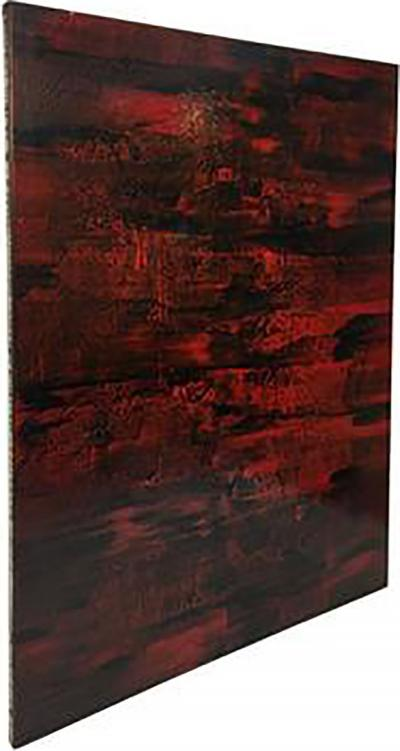 Gerhard Richter Large Modern Painting with Layers of Beautiful Colors in the manner of Richter