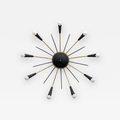 German Nine Light Sputnik Flush Mount Light