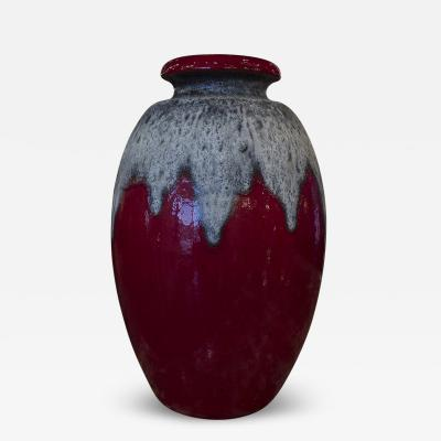 German Red and Grey Lava Vase