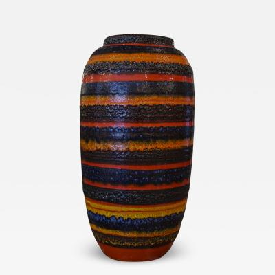 Germand Multi Colored Strip Lava Vase