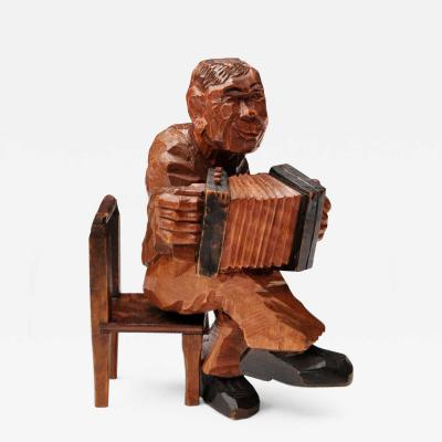 Germanic Expessionistic Wood Figure 1920s