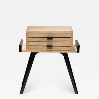 Germano Marchetti Le Petit Two Color Nightstand with drawers