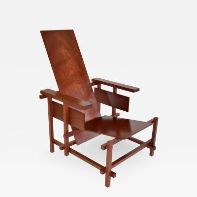 Gerrit Rietveld Gerrit Rietveld Gentleman s Red Blue Arm Chair in Purpleheart c 2002