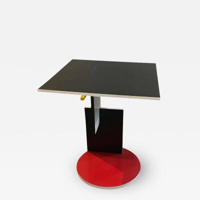 Gerrit Rietveld Memphis Movement Side or Occasional Table Reissued by Cassina