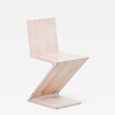 Gerrit Rietveld Zig Zag chairs after Rietveld Netherlands c 1970s