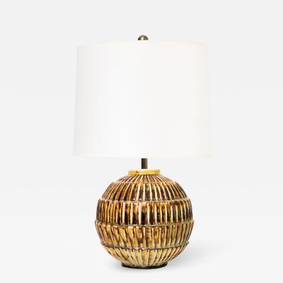 Gerrud Lonegren Scandinavian Modern Unique Studio Ceramic Lamp by Gertrud Lonegren Rorstrand