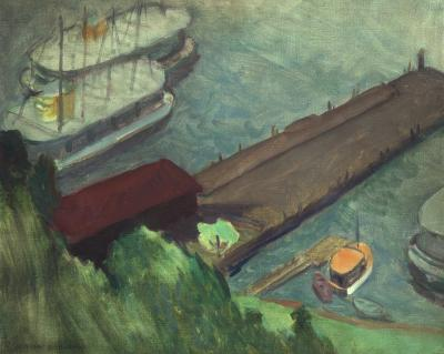Gershon Benjamin Gloucester Harbor 4 ca 1935