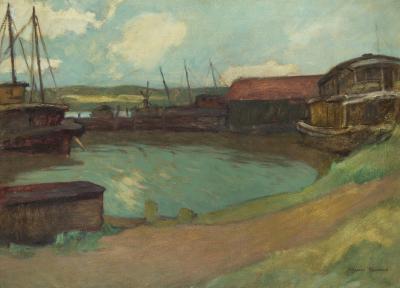 Gershon Benjamin Gloucester Pier 1930