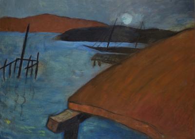Gershon Benjamin Moon Over Wharf ca 1936