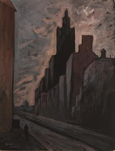 Gershon Benjamin Sunset in the City