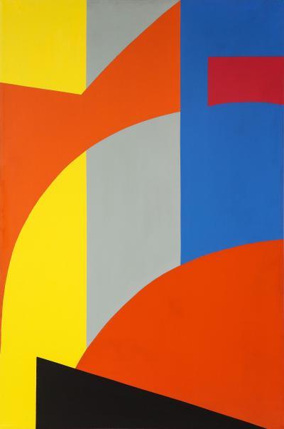 Gertrude Shibley In Transit Series Hard Edge Painting U269