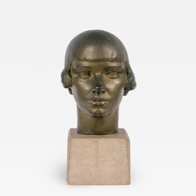 Gertrude Vanderbilt Whitney Gertrude Vanderbilt Whitney Bronze Sculpture Young Woman USA 1920s