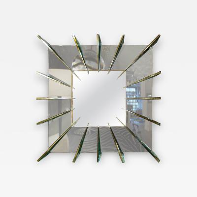Ghir Studio Ghiro Studio Dominik Smoke Gray Mirror with Brass Faced Spikes