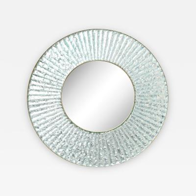 Ghir Studio Large Scale Studio Built Circular Mirror by Ghir Studio