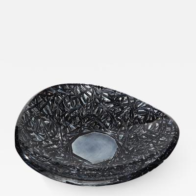 Ghir Studio Studio Made Carved Glass Dish by Ghir Studio Large