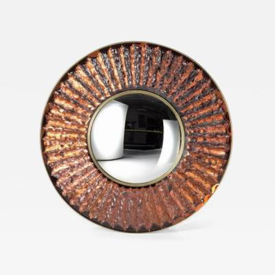 Ghir Studio The Convex Studio Mirror in Amber by Ghiro