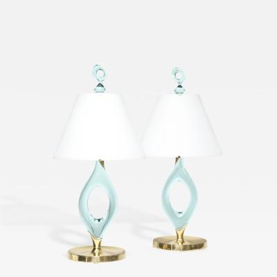 Ghiro Studio Grazia Pair of Studio Made Table Lamps by Ghir Studio