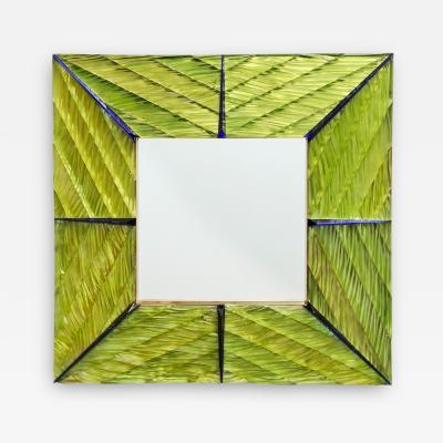 Ghiro Studio Hand Carved Wall Mirror by Ghir Studio
