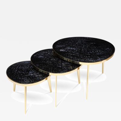 Ghiro Studio Tris Nest of Three Tables by Ghir Studio