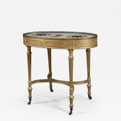 Giacomo Raffaelli A Giltwood Center Table With Marble Top Attributed To Giacomo Raffaelli