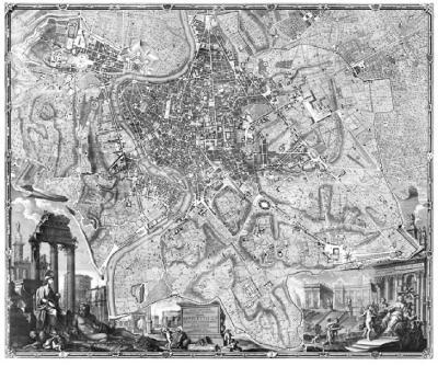 Giambattista Nolli Nollis 1748 Pianta Grande di Roma The Great Plan of Rome