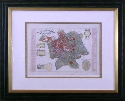 Giambattista Nolli Plan de la Ville de Rome 1843